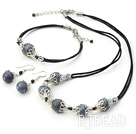 blue coral set-necklace, bracelet with matched earrings under $ 40