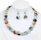popular 16mm amazon stone necklace earring set