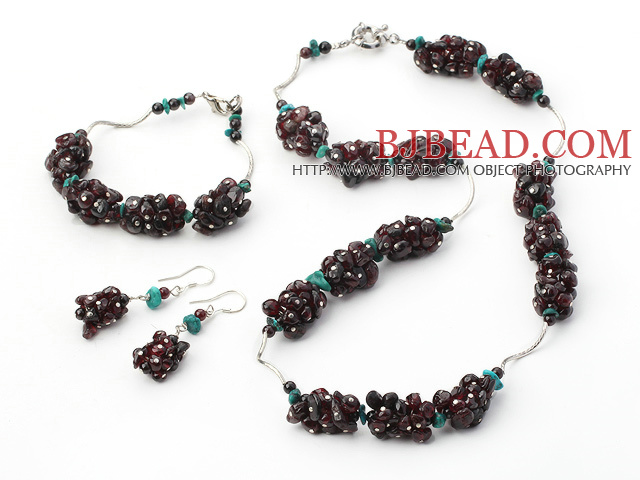 garnet and turquoise sets