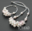 crystal seashell beads set