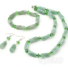 vogue green crystal aventurine set