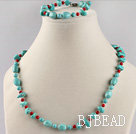 turquoise and bloodstone necklace bracelet set