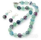8-14mm rainbow fluorite sets