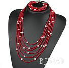 3.5mm pearl and coral sets under $100