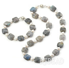 pearl faced labradorite jewelry set