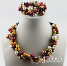 colorful shell beads necklace bracelet set