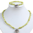 classical opal and white pearl necklace bracelet earrings set