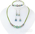favourite rainbow fluorite necklace bracelet earring set