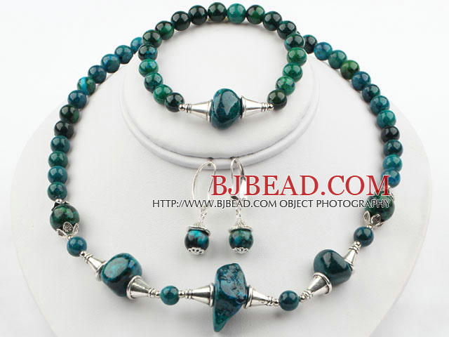 New Design Phoenix Stone Set ( Necklace Bracelet and Matched Earrings )