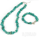 green gem necklace with matched bracelet