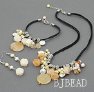yellow jade and coin pearl crystal set