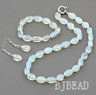moonstone set (necklace, bracelet, earrings) with moonlight clasp