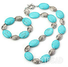 18*25mm turquoise set( necklace, bracelet) with moonlight clasp under $ 40