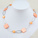 31.5 inches dyed shell long style necklace