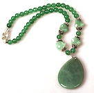 Aventurine Necklace wuth Teardrop Aventurine Pendant under $ 40