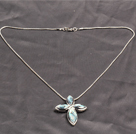 New Arrival Simple Style Tibet Silver Lily Flower Pendant Necklace with Lobster Clasp