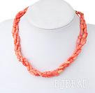 coral necklace under $18