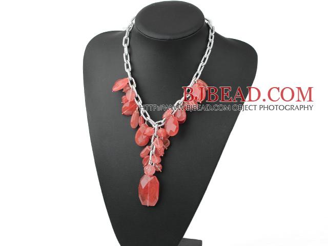 cherry quartz necklace