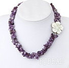 pearls and Amethyst necklace