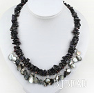 blue sandstone and shell necklace under $ 40