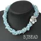 pearl Aquamarine necklace