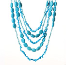 turquoise pearl necklace under $ 40