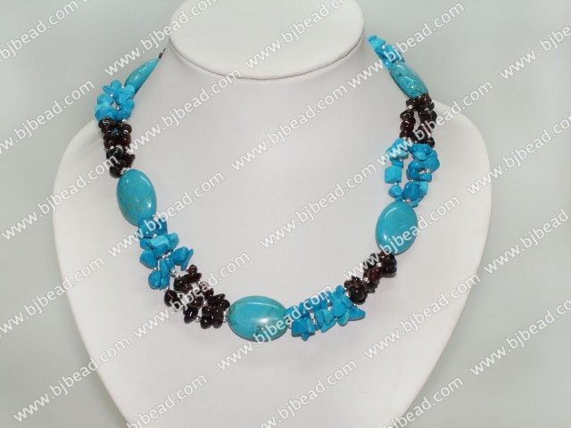 turquose and garnet necklace