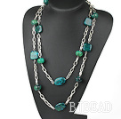 fashion long style phoenix stone necklace