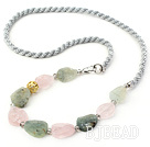 Single Strand Irregular Shape Agate Necklace