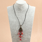 multi strand red coral necklace under $ 40