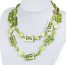 green pearl and shell necklace