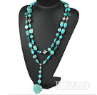 long style turquose neckace under $ 40