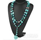 long style turquose neckace