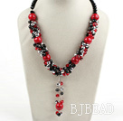 crystal and blood stone necklace