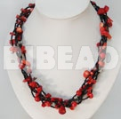 41.3 inches irregular shape red coral necklace under $14