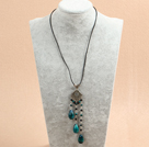 multi strand Y shape beautiful pearl crystal and black agate necklace