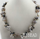 vogue jewelry pearl crystal and black agate necklace under $18