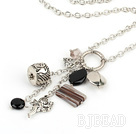 metal jewelry agate crystal necklace