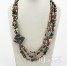 Big Style Multi Strand India Agate Necklace under $ 40
