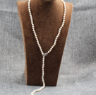 multi strand 4-5mm natural fresh water white pearl necklace