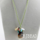 18.1 inches multi color gemstone pendant necklace with extendable chain