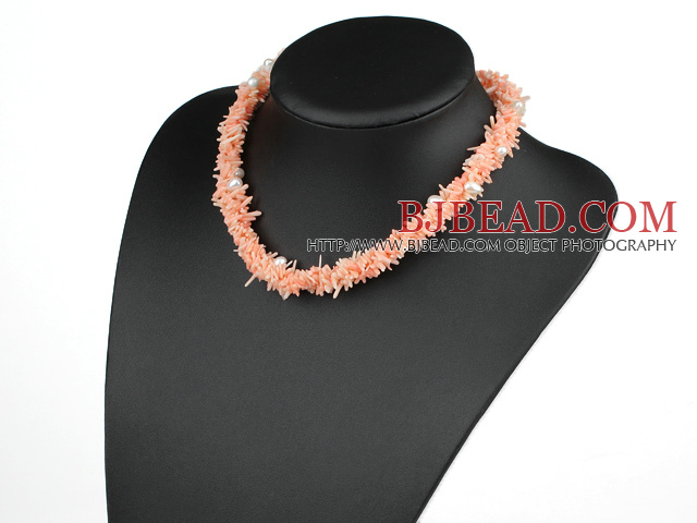 ral necklace with collar de coral rosa con moonlight clasp luz de la luna  cierre 72a8bfc9d31