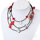55 inches fashion long style multi strand multi stone necklace