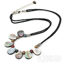 Mother of pearl Indian agate necklace under $ 40