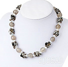 pearl crystal and agate necklace
