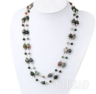 47 inches fashion long style indian agate fashion necklace