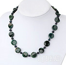 black pearl and indian agate necklace