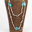 baroque pearl turquoise necklace
