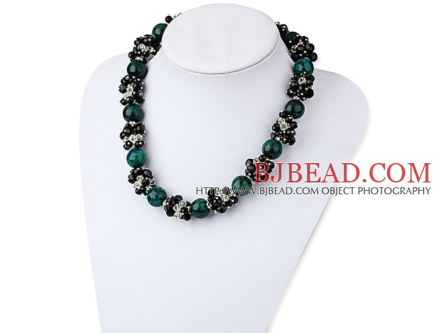 pearl crystal and phoenix stone necklace
