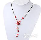 coral necklace under $ 40